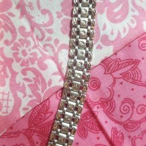 999.5 Platinum bracelet diamond cut 36.9g